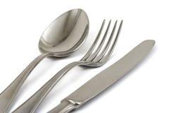 cuillère de couteau de fourchette photographie stock libre de droits