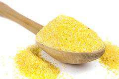 Cuillère de farine de maïs Image libre de droits