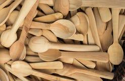 cuillère de thé faite de bois Photo stock