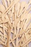 Cuillère en bois Images libres de droits