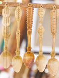 Cuillère en bois images stock