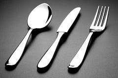Cuillère et couteau de fourchette Image libre de droits