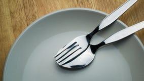 Cuillère et fourchette Image stock