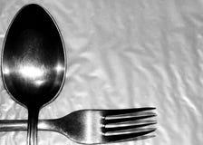 Cuillère et fourchette Photos libres de droits