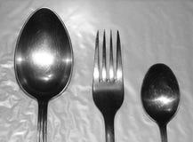Cuillère et fourchette Images stock