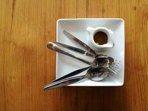Cuillère et fourchette Image libre de droits