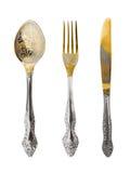 Cuillère, fourchette et couteau image libre de droits