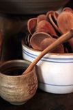 Cuillères de thé Photo stock