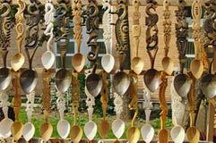 Cuillères en bois Photographie stock libre de droits