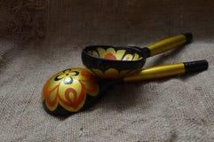 Cuillères en bois russes Image stock