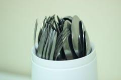 Cuillères et fourchettes Photo stock