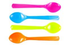 Cuillères multicolores vibrantes Images stock