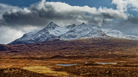 Cuillin-Berge, Insel von Skye lizenzfreies stockbild
