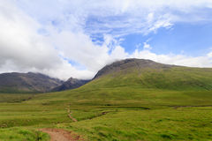 The Cuillin Hills and the Fairy Pools trails Stock Images
