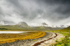 Cuillin Hills in low cloud Stock Photography