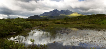 Cuillin mountain on the isle of skye Stock Images