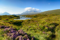 The Cuillin Mountains on the Isle of Skye Royalty Free Stock Photos