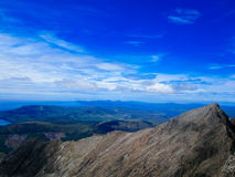 Cuillin mountains on the Isle of Skye. View from top of Cuillin mountains on the Isle of Skye Stock Photography