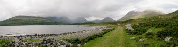 The Cuillin and the Red Hills from Camas Malag royalty free stock image