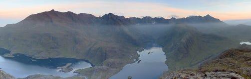 Cuillins di skye ad alba fotografie stock libere da diritti