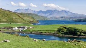 Cuillins, Insel von Skye stockbilder
