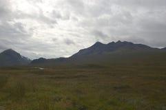cuillinsscotland skye royaltyfri bild