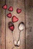 Cuillères de jour de valentines Image libre de droits