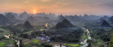 Cuiping located near yangshuo guangxi province Royalty Free Stock Image