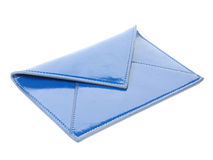 cuir bleu d'enveloppe Photo stock