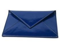 cuir bleu d'enveloppe Image libre de droits