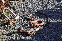 Cuir/bride de corde en acier Images stock
