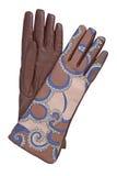 cuir brun de gants image stock