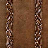 cuir brun de plan rapproché de fond Photos stock