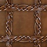 cuir brun de plan rapproché de fond Photographie stock libre de droits