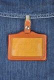 cuir d'insigne Image libre de droits