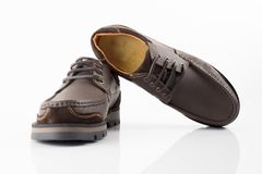 cuir de chaussures Image stock