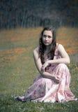 Cuir de couleur de claret comme fond Photographie stock