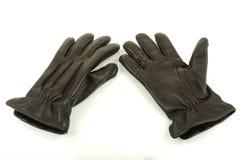 cuir de gants photographie stock