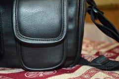 cuir de sac Photos stock
