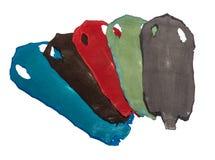 Cuir exotique de pastenague dans 5 couleurs image libre de droits