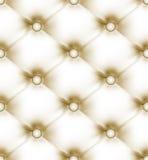 Cuir léger beige boutonné par luxe. ENV 8 Images stock