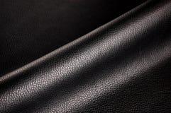 Cuir noir Images stock