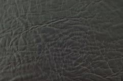 Cuir noir. Images stock