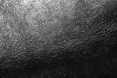 Cuir noir de texture Images libres de droits