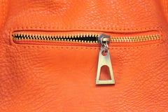Cuir orange image libre de droits