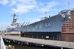 Cuirassé d'USS le Wisconsin Images libres de droits