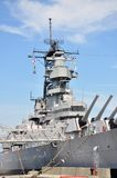 Cuirassé d'USS le Wisconsin, Norfolk Photo stock