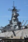Cuirassé d'USS Wisconsin (BB-64) en Norfolk, la Virginie Image stock