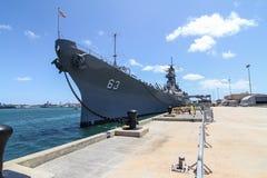 Cuirassé Missouri d'USS de Pearl Harbor Image libre de droits