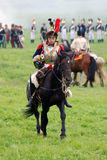 Cuirassier at Borodino battle historical reenactment in Russia Stock Photo